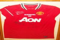 A signed Man Utd Legends Jersey